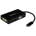 Startech CDPVGDVHDBP USB-C Multiport Adapter - 3-in-1 USB C to HDMI DVI or VGA