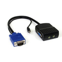 Startech ST122LEA 2 Port VGA Video Splitter with Audio - USB Powered