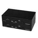 StarTech SV565FXDUSA USB DVI KVM Console Extender w/ Serial & Audio Over MM Fiber - 2km