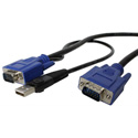 Startech SVECONUS15 15 Ft. 2-in-1 Ultra Thin USB KVM Cable
