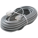Steren 304-025SL 25 Ft. 4C Telephone Line Cord Silver