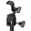 Light Stand Mount with Cold Shoe and Adjustable Tilt