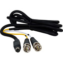 TecNec Premium SVHS 4 Pin to 2 BNC Breakout Cable 25 Foot