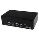 StarTech SV431DD2DUA 4 Port Dual DVI USB KVM Switch with Audio & USB 2.0 Hub