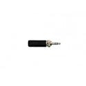Switchcraft 35HDLBNS 3.5MM Locking Stereo Plug Black Handle Nickel Plug 0.175in