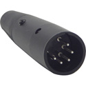 Switchcraft A5MB A-Series 5 Pin XLR Male Cable Mount - Silver Pins - Small Hole - Black