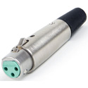 Switchcraft AA3FBAU AA Series 3 Pin XLR Female Cable Mount Gold Pins - Black