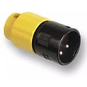 Switchcraft AAA3MBYYLP Low Profile Right Angle Male XLR Connector - Black with Yellow Back