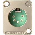 Switchcraft DE5M DE Series Panel Mount - XLR Male 5 Silver Pins Nickel Finish