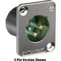 Switchcraft DE6M DE Series Panel Mount - XLR Male 6 Silver Pins Nickel Finish