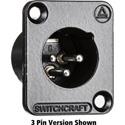 Switchcraft DE6MB DE Series Panel Mount - XLR Male 6 Silver Pins Black Finish