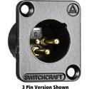 Switchcraft DE6MBAU DE Series Panel Mount - XLR Male 6 Gold Pins Black Finish