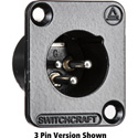 Switchcraft DE7MB DE Series Panel Mount - XLR Male 7 Silver Pins Black Finish