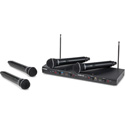 Samson SWS412HH-E Stage 412 - Frequency-Agile Quad-Channel Handheld VHF Wireless Mic System with (4) Q6 Dynamic Mics