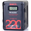 SWIT PB-S220A 220Wh Gold Mount Li-Ion Battery with Multi D-Tap Out and USB Port