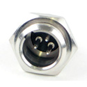 Switchcraft TB3M Tini-QG Mini XLR 3 Pin Male - Circular Panel Mount - Nickel