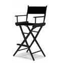 Tall Directors Chair - Black Frame / Black Canvas