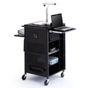 Bretford TCP23-BK PAL Multimedia Cart with 4-Inch Rubber Casters