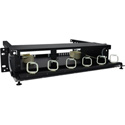 TechLogix ECO-RDU-2RU-P6 Rack-Mount Distribution Unit 2 RU with 6 Panel Slots and ID Labels