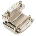 DVI Right Angle Coupler Female to Female