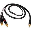 TecNec Premium Y-Cable - 3.5 Stereo Male To 2 - RCA Males -3ft