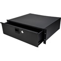 Samson SRKDR3U TN-RD3 Rack Drawer with Key Lock & Rear Cable Raceway Knockout - 3RU