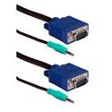 TecNec UltraThin HD15 VGA/UXGA Tri-Shield Cable with Audio - 3ft