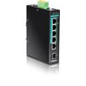 TRENDnet TI-PG541 5-port Hardened Industrial Gigabit PoEplus DIN-Rail Switch (Version v1.0R)