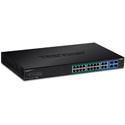 TRENDnet TPE-1620WS 16-port Gigabit Web Smart PoEplus Switch w/ 2 Shared Mini-GBIC Slots (16 PoEplus/2SFP Version v2.0R)