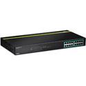 TRENDnet TPE-TG160G 16-port GREENnet Gigabit PoEplus Switch (250W)(Version v1.1R)