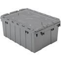 22in x 15in x 9in (8.5 gallon) Grey ALC (Attached Lid Containers) Production Tote
