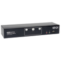 Tripp Lite B004-2DUA2-K 2-Port Dual Monitor DVI KVM Switch Audio/ USB 2.0 Hub/ Cable TAA