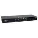 Tripp Lite B004-2DUA4-K 4-Port Dual Monitor DVI KVM Switch Audio/ USB 2.0 Hub/ Cable TAA