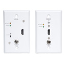 Tripp Lite B126-1A1-WP HDMI over Cat5/Cat6 Active Extender Kit Wallplate TX/RX for Video & Audio - Up to 200 Feet