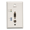 Tripp Lite B132-100-WP-1 VGA over Cat5/Cat6 Extender Wallplate Receiver 1920x1440 at 60Hz Up to 1000 Feet