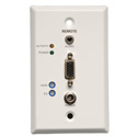 Tripp Lite B132-100A-WP-1 VGA with Audio over Cat5/Cat6 Extender Wallplate Receiver 1920x1440 at 60Hz Up to 1000 Feet