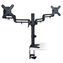 Tripp Lite DDR1327SDFC Dual Full Motion Flex Arm Desk Clamp for 13 Inch to 27 inch Monitors