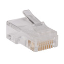 Tripp Lite N030-100 RJ45 Plugs for Round Solid / Stranded Conductor 4-pair Cat5e Cable 100-Pack