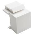 Tripp Lite N040-010-WH Snap-In Blank Keystone Jack Insert White 10 Pack