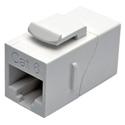 Tripp Lite N235-001-WH Cat6 Straight-Through Modular In-Line Snap-In Coupler (RJ45 F/F) White