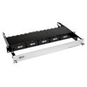 Tripp Lite N482-01U High Density Fiber Enclosure Panel 1U 5-Cassette Capacity