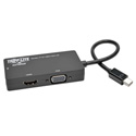 Tripp Lite P137-06N-HDV-4K Keyspan Mini DisplayPort 1.2 to VGA/DVI/HDMI All-in-One Converter Adapter 4K x 2K HDMI