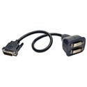 Tripp Lite P564-001 DVI Y Splitter Cable Digital Monitors (DVI-D M to 2x F) 1 Foot