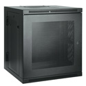 Tripp Lite 10U Low-Profile Wall-Mount Rack Enclosure Cabinet Double Hinge Removable Side Panels 22H x 24W x 22D