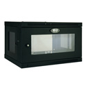 Tripp Lite 6U Low-Profile Wall-Mount Rack Enclosure Cabinet with Clear Acrylic Window Removable Side Panels 15 x 24 x 18