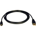 Tripp Lite U030-006 USB 2.0 Hi-Speed A to Mini-B Cable (A to 5Pin Mini-B M/M) 6 Feet
