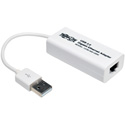 Tripp Lite U236-000-GBW USB 2.0 Hi-Speed to Gigabit Ethernet NIC Network Adapter 10/100/1000 Mbps White