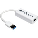 Tripp Lite U336-000-GBW USB 3.0 SuperSpeed to Gigabit Ethernet NIC Network Adapter 10/100/1000 Mbps White