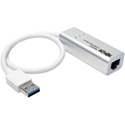 Tripp Lite U336-000-GB-AL USB 3.0 SuperSpeed to Gigabit Ethernet NIC Network Adapter 10/100/1000 Plug & Play Aluminum