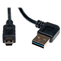 Tripp Lite UR030-006-RA USB 2.0 RA Rev. A Male to 5-Pin Mini B Male - 6 ft.